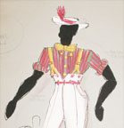 Afternoon of a Black Faun - Costume design for Man with a white hat