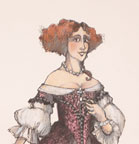 Don Pasquale - Costume Design for Norina